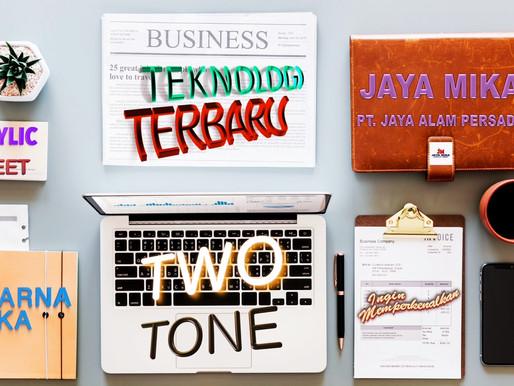 Teknologi terbaik dan terbaru Akrilik Adiwarna Mika adalah Two Tone (2 warna)