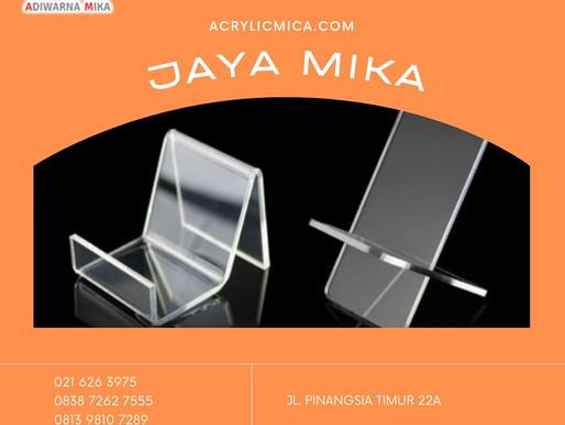 Acrylic Clear Adiwarna Mika untuk membuat shoes stand atau gadget stand