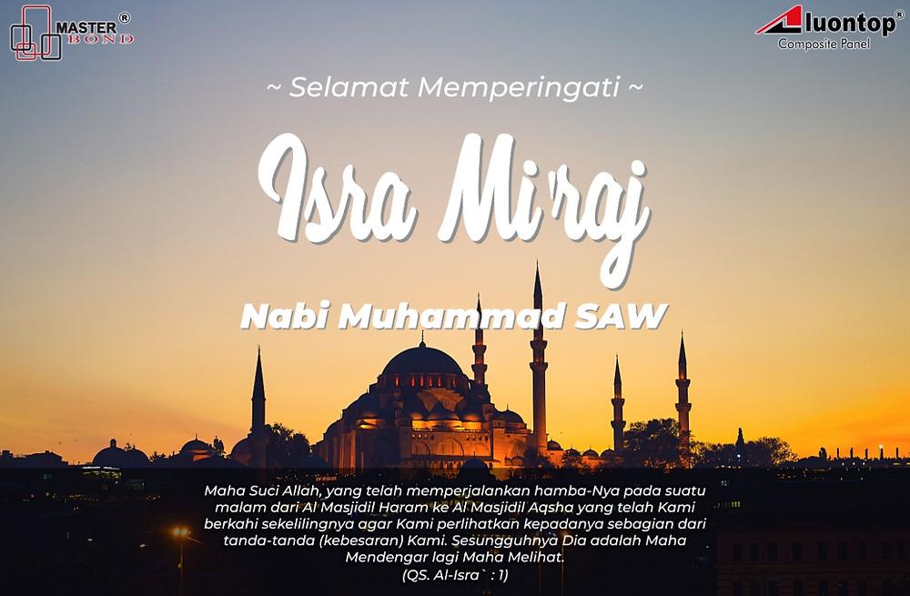 PT. Semesta Makmur Bersama Mengucapkan Selamat Merayakan Hari Isra Mi'raj Nabi Muhammad SAW 1440 H