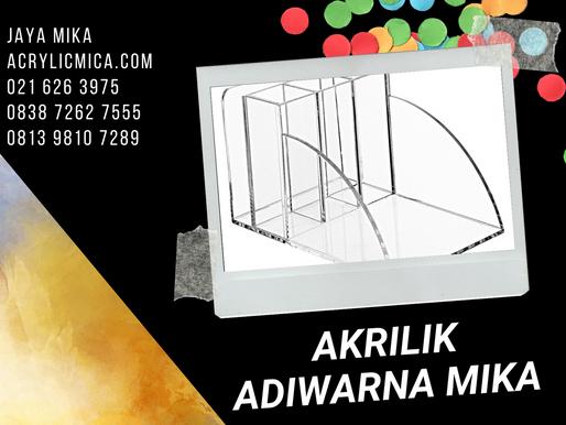 Acrylic Clear Adiwarna Mika untuk membuat produk tempat stationery atau alat tulis