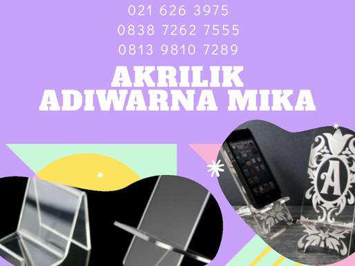 Akrilik Adiwarna Mika dapat digunakan untuk membuat tempat atau holder smartphone (handphone)