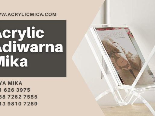 Acrylic Clear Adiwarna Mika dengan ketebalan 10 mm untuk rak majalah atau koran