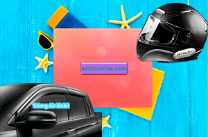 Acrylic Adiwarna Mika Can Be Used To Make Helmet Glass & Car Gutters (Door Visors)