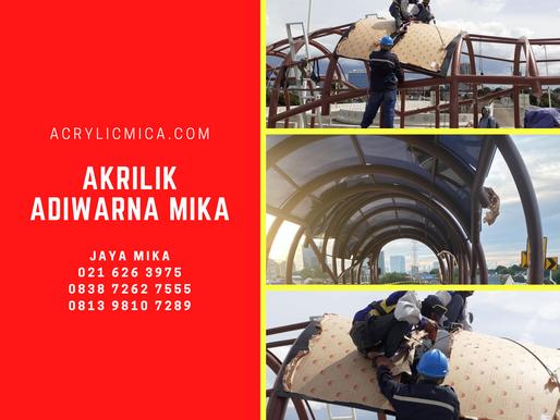 Akrilik Adiwarna Mika warna hitam digunakan untuk proyek JPO (Jembatan Penyeberangan Orang)