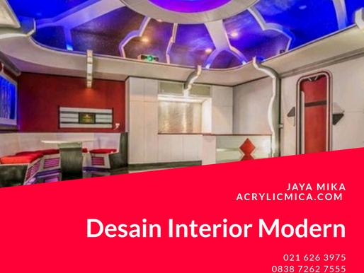 Desain Interior Modern Dapat Menggunakan 2 Bahan Bangunan Yaitu Akrilik Adiwarna Mika & ACP Aluontop