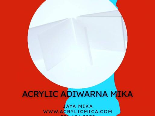 Akrilik Adiwarna Mika warna putih susu mempunyai kualitas terbaik dan harga yang murah
