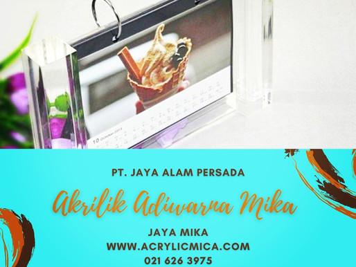 Acrylic Clear Adiwarna Mika untuk membuat tempat kalender atau foto