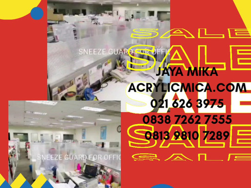 Sneeze Guard For Office dari Acrylic Adiwarna Mika