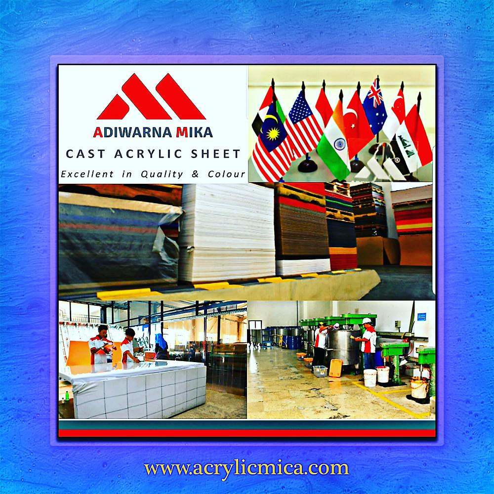 Teknologi Terbaru & Modern Acrylic Adiwarna Mika