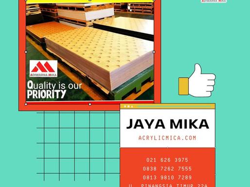 Akrilik Adiwarna Mika merupakan acrylic sheet terbaik di Indonesia
