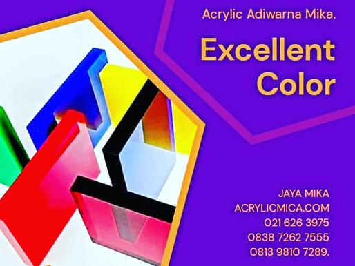 Akrilik Adiwarna Mika mempunyai berbagai macam warna terbaik yang indah dan istimewa