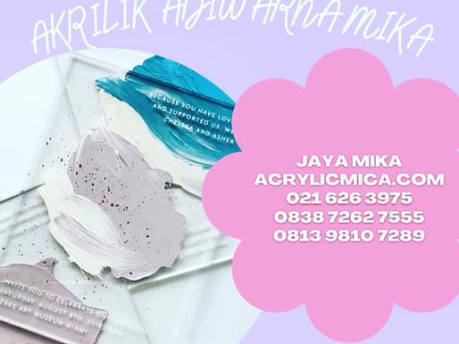 Acrylic Clear Adiwarna Mika untuk membuat undangan invitation atau kanvas lukisan