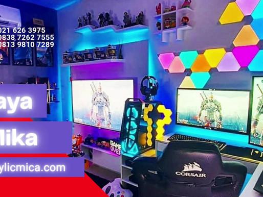 Akrilik Adiwarna Mika dapat digunakan untuk interior ruangan youtuber dan gamer