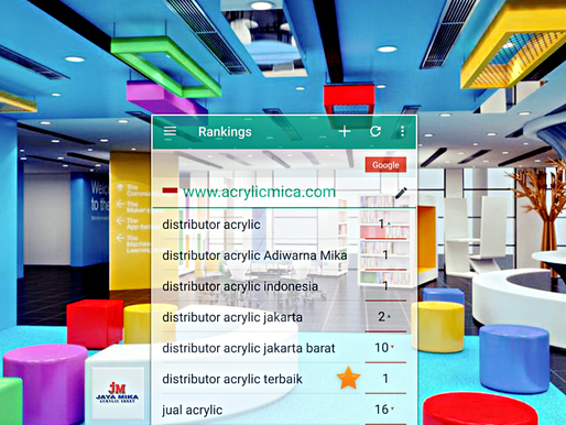 Pencapaian Terbaik Website Jaya Mika www.acrylicmica.com