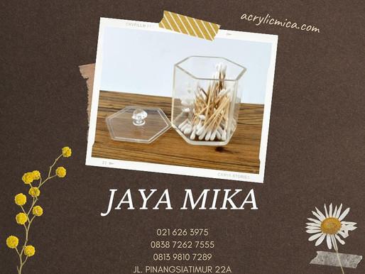 Acrylic Clear Adiwarna Mika berbentuk segi 6 untuk wadah penyimpanan