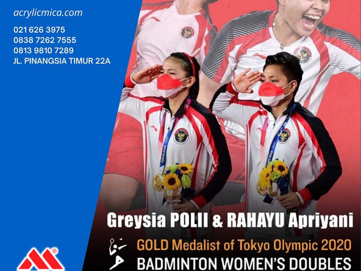PT. Jaya Alam Persada mengucapkan selamat kepada Ganda putri Indonesia, Greysia /Apriyani