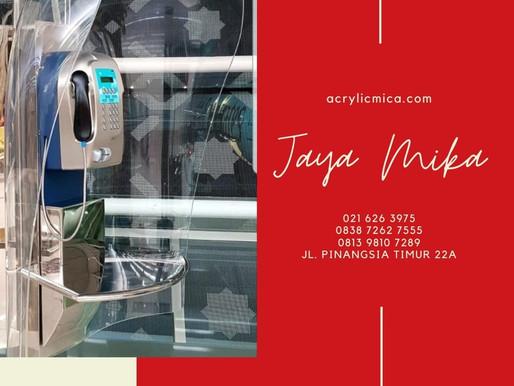 Akrilik Adiwarna Mika dapat dibentuk menjadi tempat (box) telepon yang unik, indah & modern.