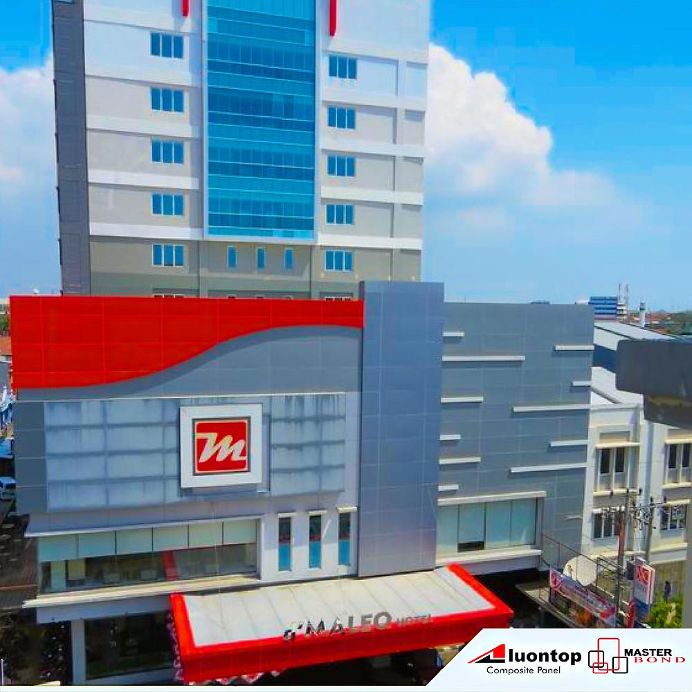 D Maleo Hotel Makassar Menggunakan Alumunium Composite Panel Aluontop