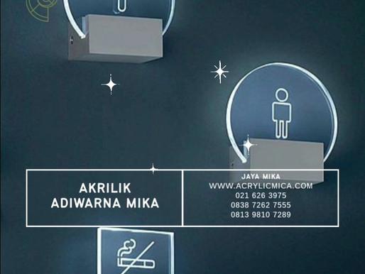 Akrilik Adiwarna Mika dapat digunakan untuk membuat signage dikombinasikan dengan lampu led
