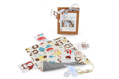 Pully Mully Tag Rag and Pacifier Holder