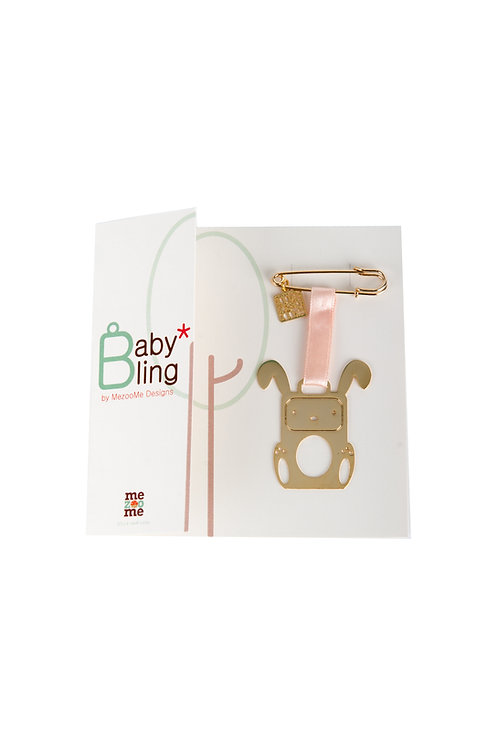 חלומות תאילנד - בייבי בלינג ארנב - תליון מעוצב עם כרטיס ברכה - איסוף עצמי בלבד