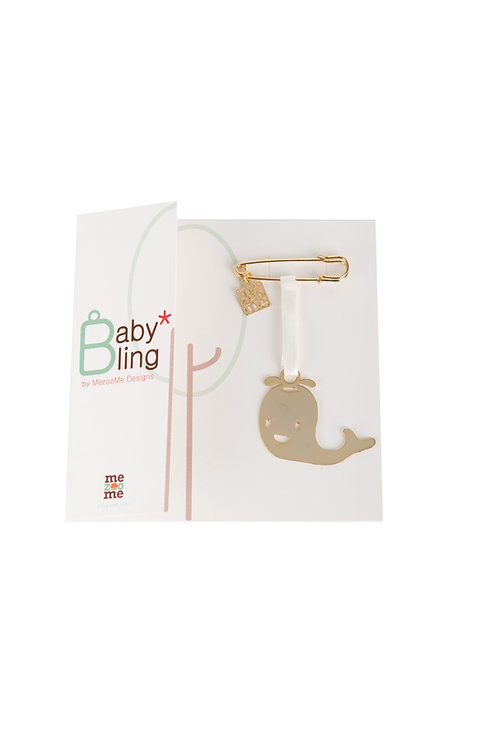 Baby Bling Whal-e  - A Gold Plated Lucky Charm