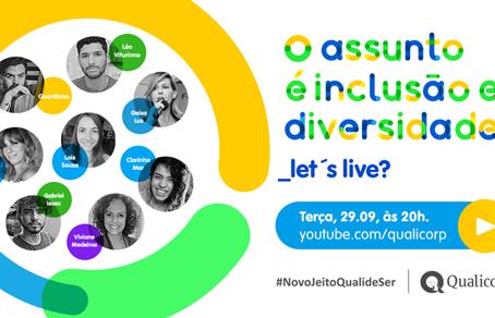 Qualicorp promove live sobre diversidade e valorização humana
