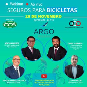 Argo: webinar sobre seguro de bikes em parceria com Clube dos Corretores e APTS