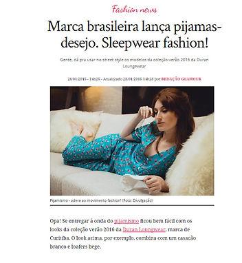 Matéria Revista Glamour