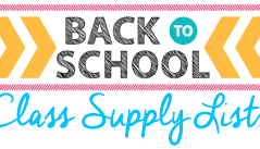 Back to School Supply Lists  Now Available