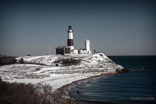 Snowy Montauk Lighthouse