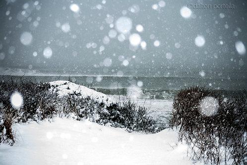 Snow on the lens