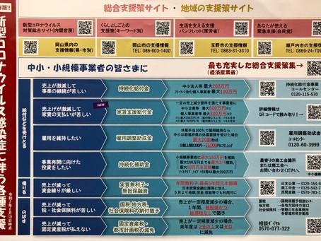 岡山市販売促進補助金と新型コロナウィルス感染症に伴う各種支援