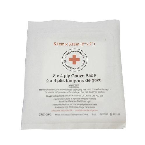 Sterile 4-ply Gauze, bag of 25, 2 per pack