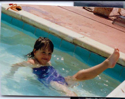 Little Brittnay in the baby pool