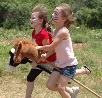Stick horse race