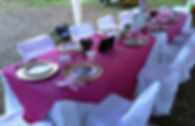 Decorated party table