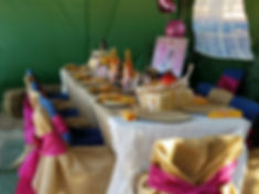 Pony party tent and table with chairs
