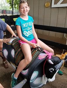 Bucking bull ride