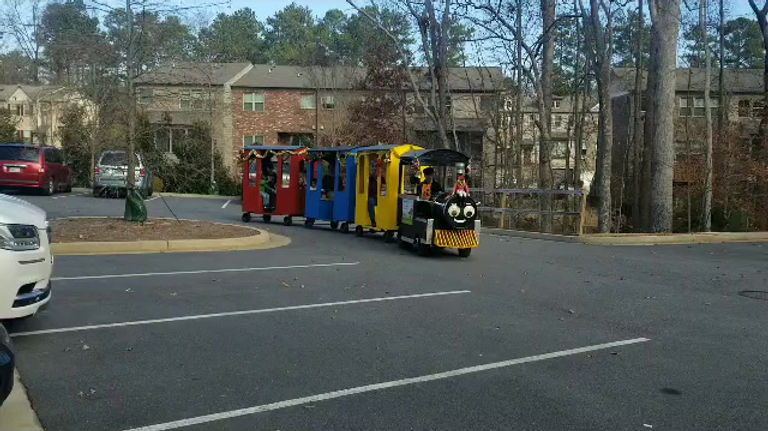 Trackless Train video