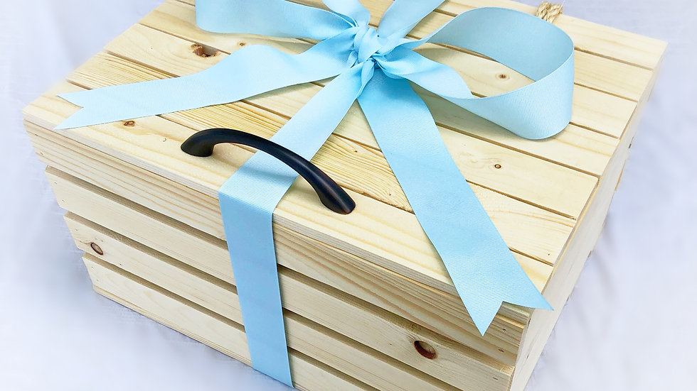 Gift Basket Wood Crate