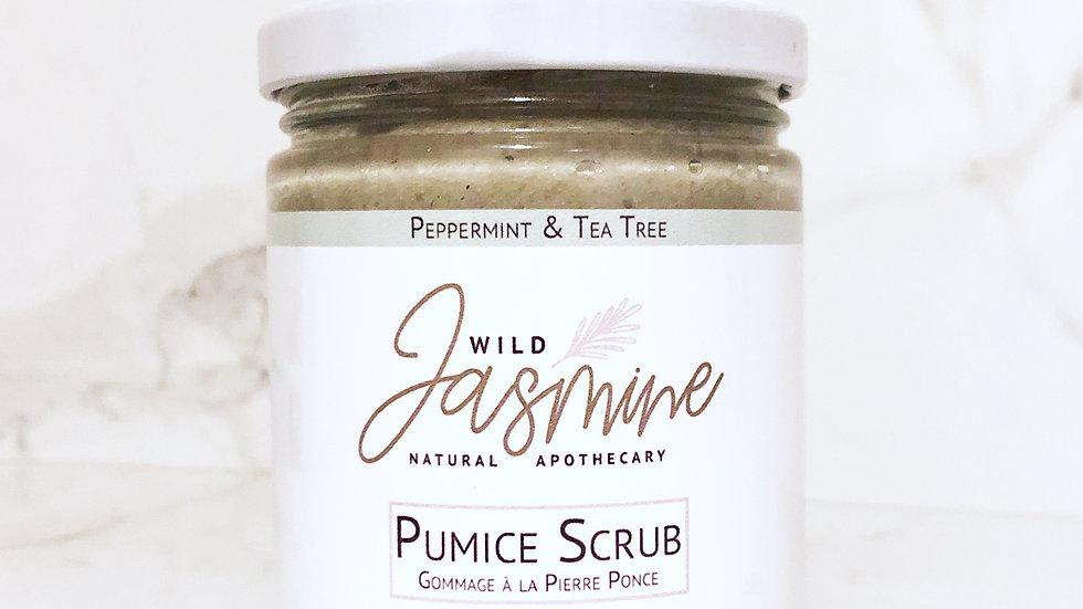 Organic Peppermint & Tea Tree Pumice Scrub