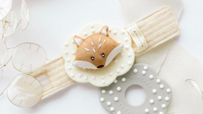 Organic Teething Wrist Rattle - Finley The Fox