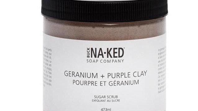Geranium & Purple Clay Scrub