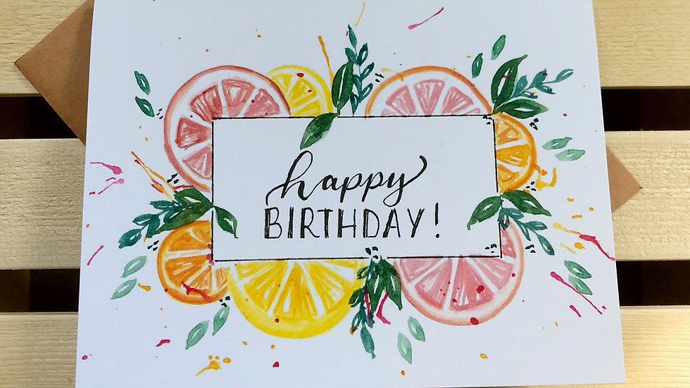 Citrus Birthday