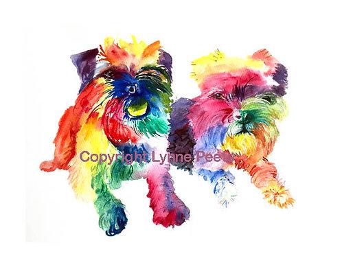 Lynne Peets Brixham Artist - Multicoloured pets