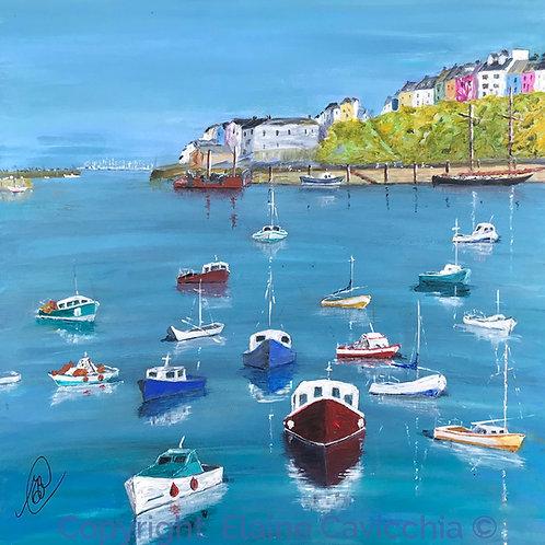 Brixham Harbour Painting - Acrylic wall art - Brixham
