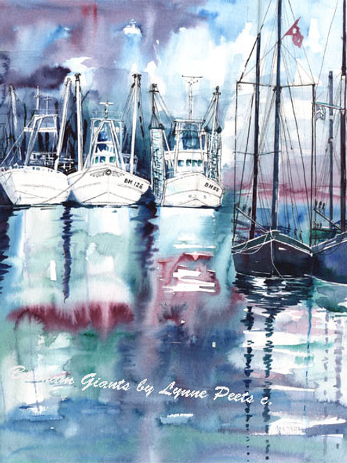 Brixham Fishing Boats - Lynne Peets