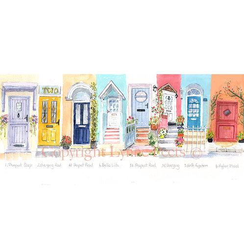 Brixham Cottage Doors - Lynne Peets - Artist