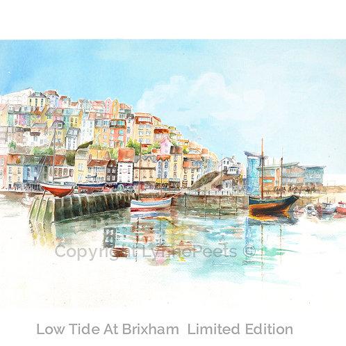 Brixham - Harbour - colourful harbour - Lynne Peets Artist